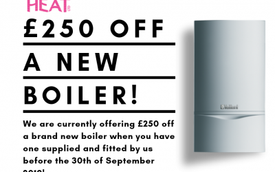 Save money on your new boiler – until 30th September